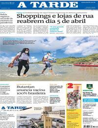 Capa do jornal A Tarde 27/03/2021