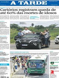 Capa do jornal A Tarde 27/04/2021