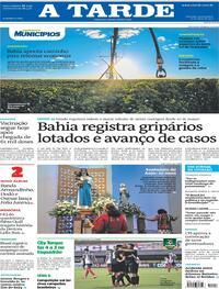 Capa do jornal A Tarde 27/05/2021