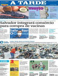 Capa do jornal A Tarde 28/02/2021
