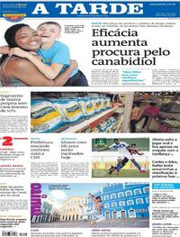 Capa do jornal A Tarde 28/03/2021