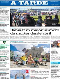 Capa do jornal A Tarde 28/05/2021