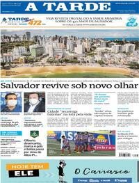 Capa do jornal A Tarde 29/03/2021