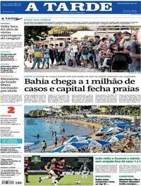 Capa do jornal A Tarde 29/05/2021