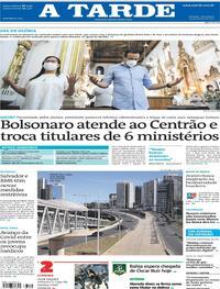 Capa do jornal A Tarde 30/03/2021