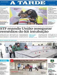 Capa do jornal A Tarde 30/04/2021