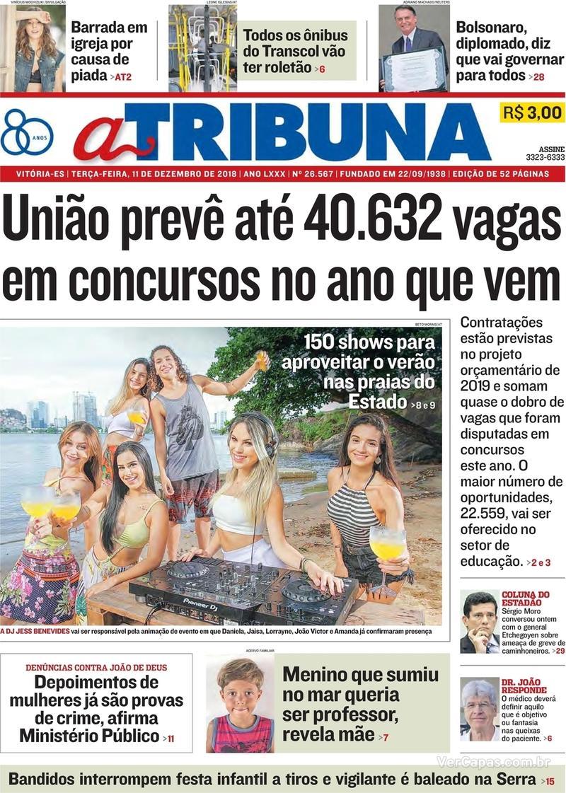 Capa A Tribuna 2018-12-11