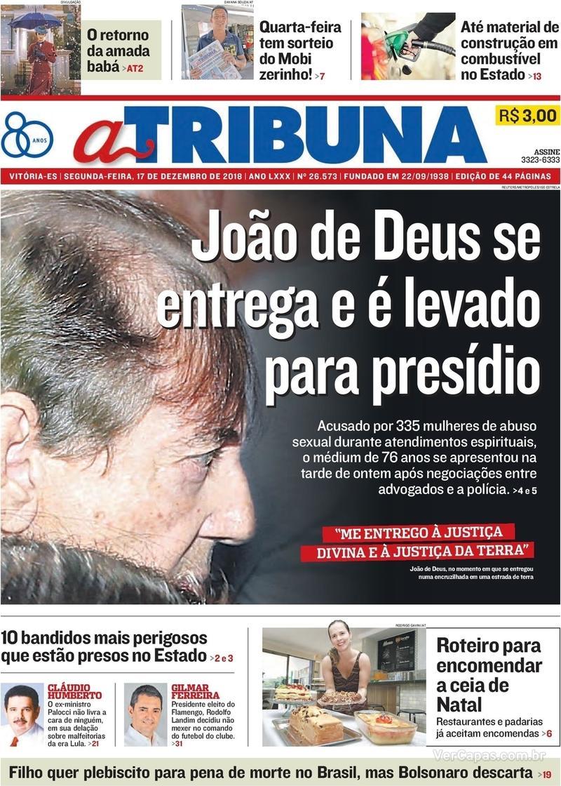 Capa A Tribuna 2018-12-17