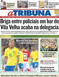 Capa A Tribuna 2018-06-18