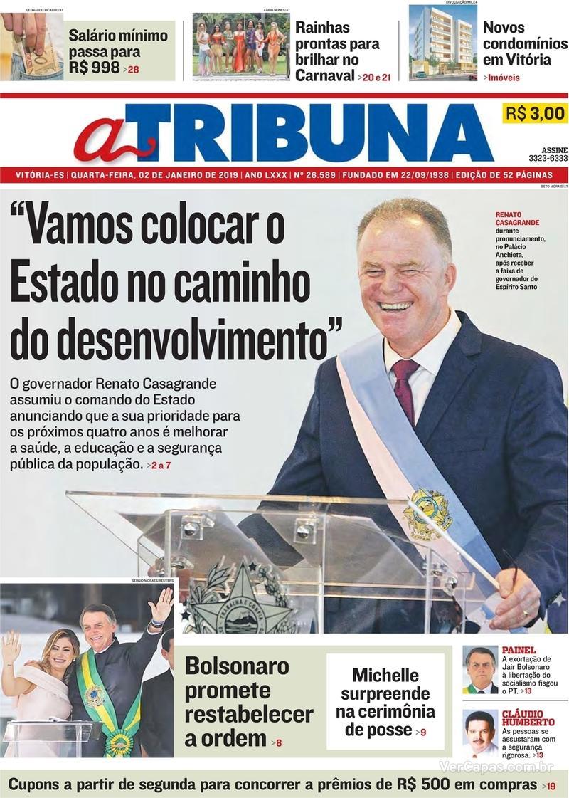 Capa A Tribuna 2019-01-02