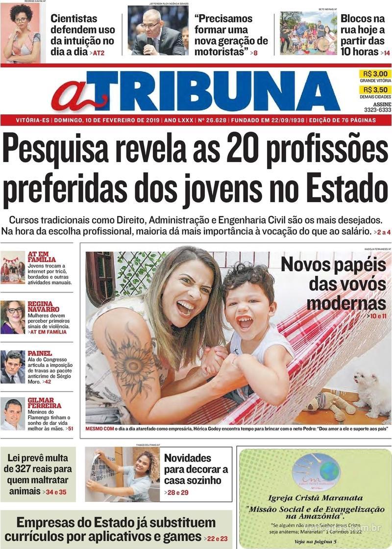 Capa - A Tribuna - Domingo 891fec7146570