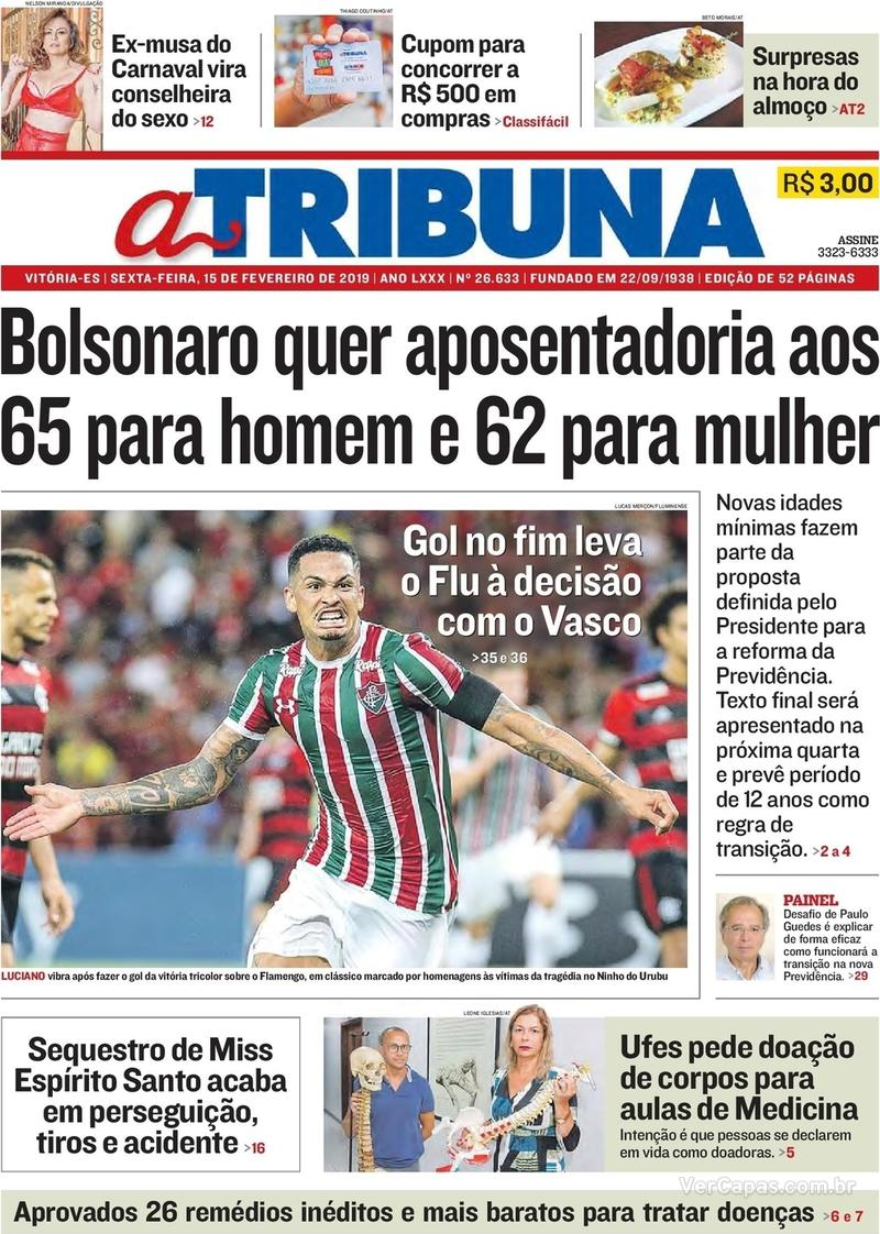 Capa A Tribuna 2019-02-15