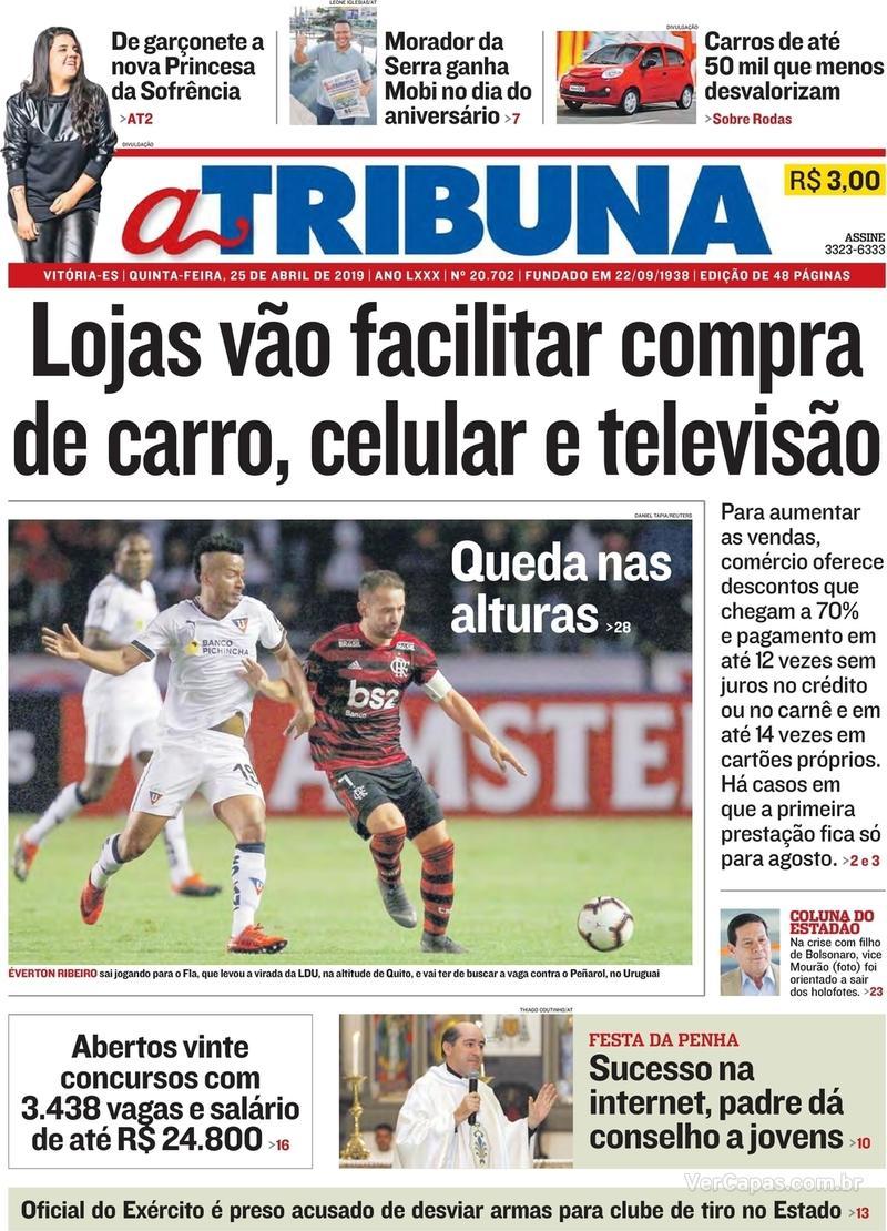 Capa A Tribuna 2019-04-25