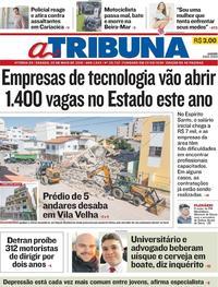 Capa Jornal A Tribuna 25/05/2019