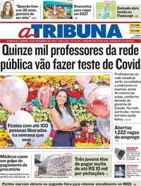 Capa do jornal A Tribuna 19/09/2020
