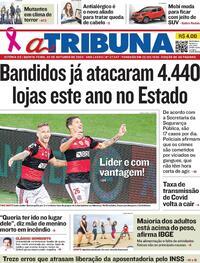 Capa do jornal A Tribuna 22/10/2020