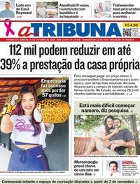 Capa do jornal A Tribuna 24/10/2020