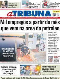 Capa do jornal A Tribuna 03/08/2021