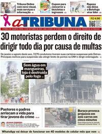 Capa do jornal A Tribuna 13/10/2021