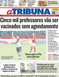 Capa do jornal A Tribuna 16/04/2021