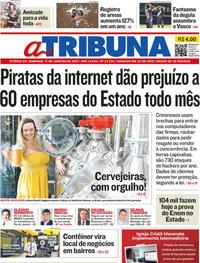 Capa do jornal A Tribuna 17/01/2021