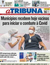 Capa do jornal A Tribuna 19/01/2021