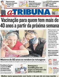Capa do jornal A Tribuna 19/06/2021