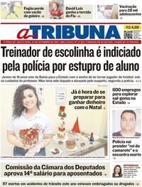 Capa do jornal A Tribuna 24/09/2021