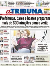 Capa do jornal A Tribuna 26/09/2021