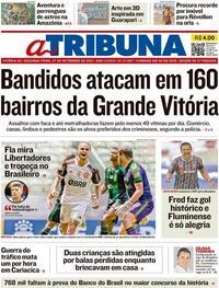 Capa do jornal A Tribuna 27/09/2021