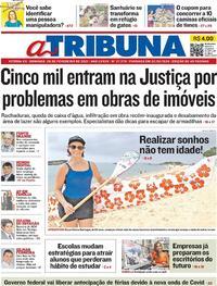 Capa do jornal A Tribuna 28/02/2021
