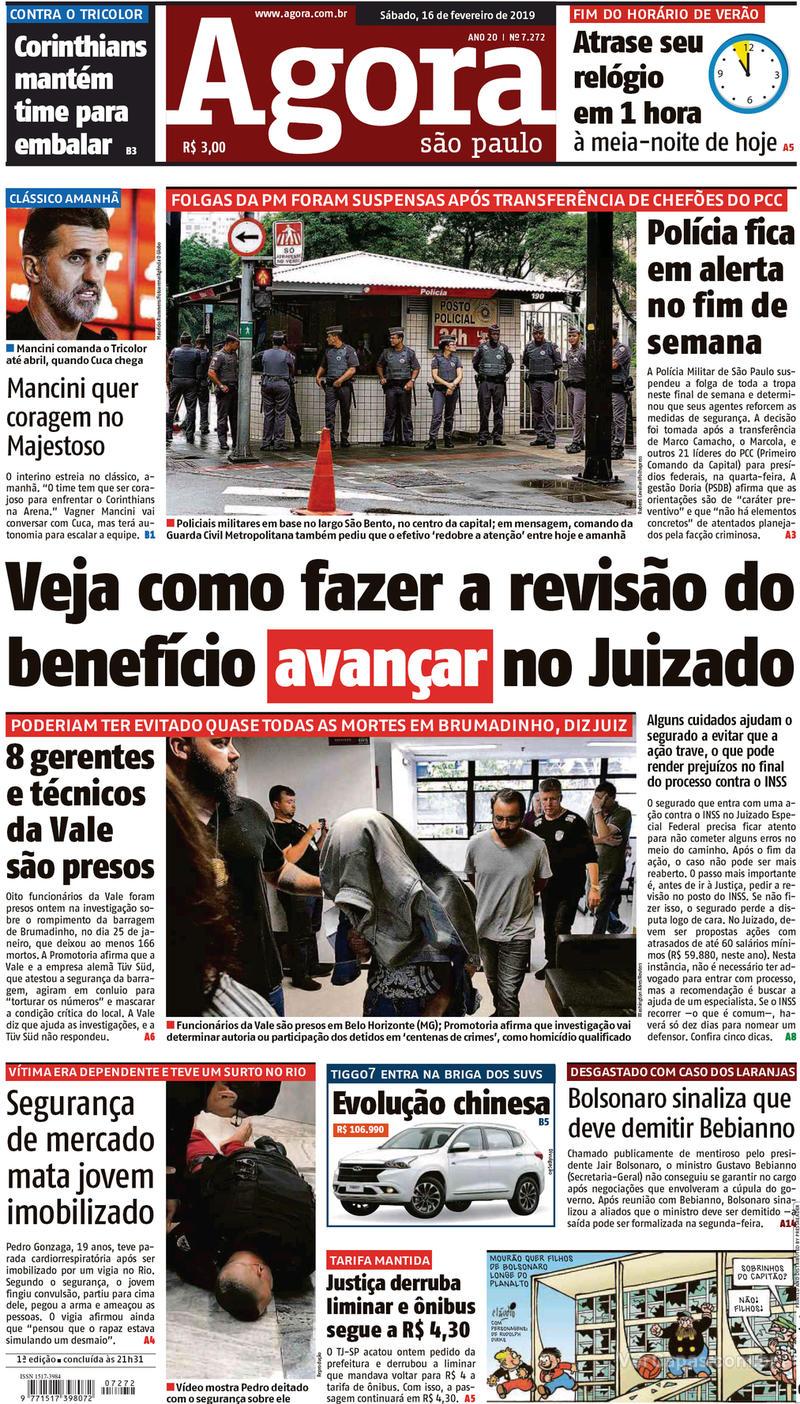 Capa Agora 2019-02-16