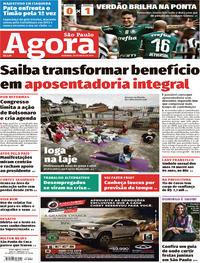 Capa Jornal Agora 26/05/2019