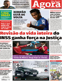 Capa Jornal Agora