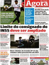 Capa do jornal Agora 01/09/2020