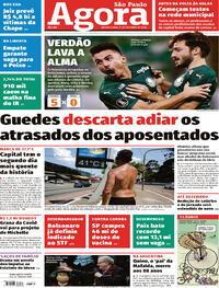 Capa do jornal Agora 01/10/2020