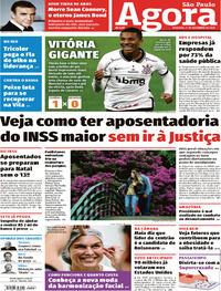Capa do jornal Agora 01/11/2020