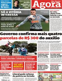 Capa do jornal Agora 02/09/2020