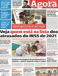 Capa do jornal Agora 02/10/2020