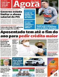 Capa do jornal Agora 03/10/2020