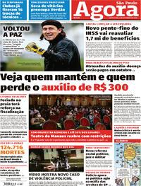Capa do jornal Agora 04/09/2020