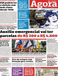 Capa do jornal Agora 04/11/2020