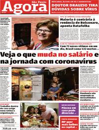 Capa do jornal Agora 05/04/2020
