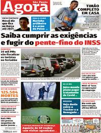 Capa do jornal Agora 05/09/2020