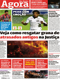 Capa do jornal Agora 05/10/2020