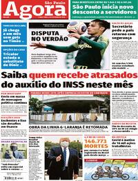 Capa do jornal Agora 06/10/2020