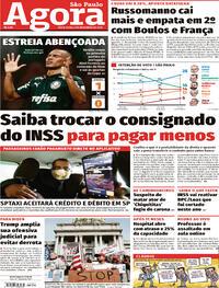 Capa do jornal Agora 06/11/2020