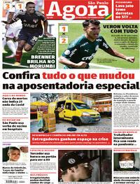 Capa do jornal Agora 07/09/2020