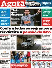 Capa do jornal Agora 07/11/2020