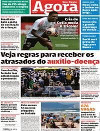 Capa do jornal Agora 08/09/2020